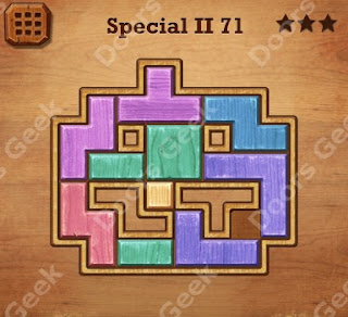 Cheats, Solutions, Walkthrough for Wood Block Puzzle Special II Level 71