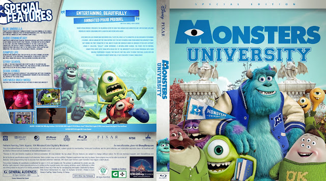 Monsters University Bluray Cover