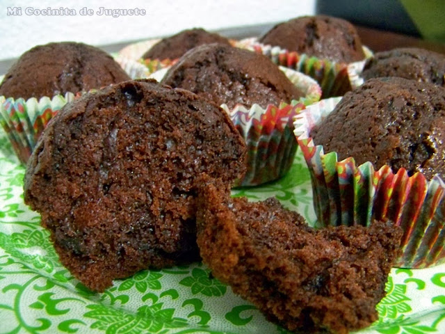 Muffins de Chocolate con Trocitos de Chocolate Negro