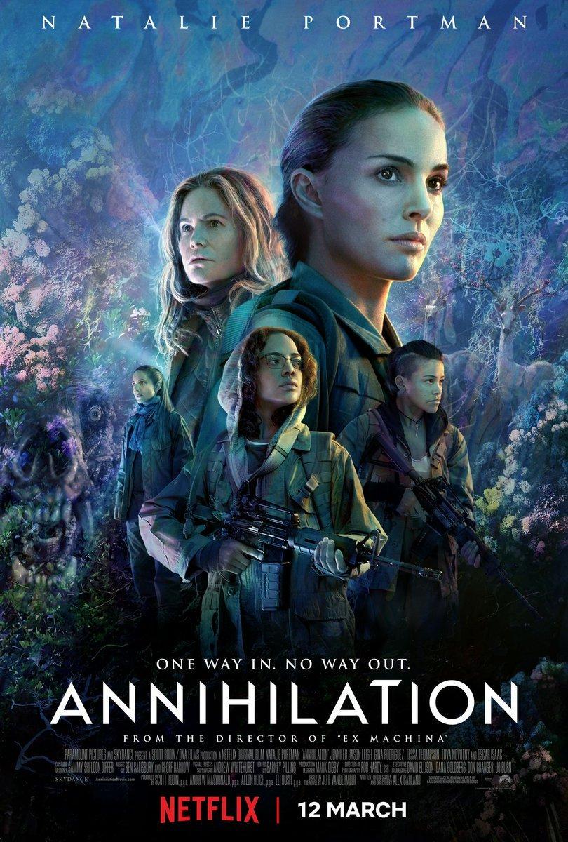 anihilacja netflix plakat recenzja filmu natalie portman