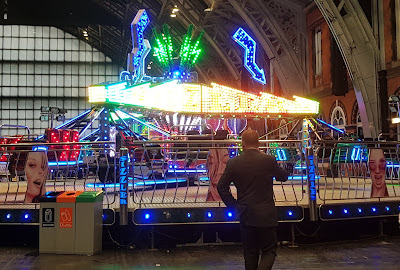 funfair rides in hall
