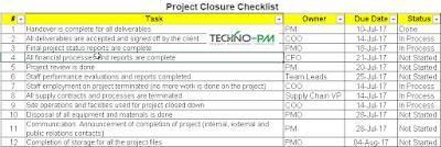 Project Closure Checklist