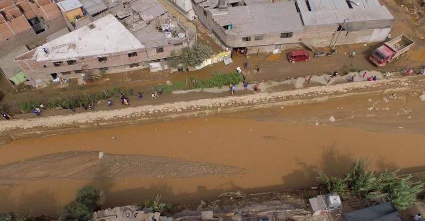 HUAYCOLORO: Desborde de río afecta Zárate, Malecón Checa y autopista Ramiro Prialé - Lima