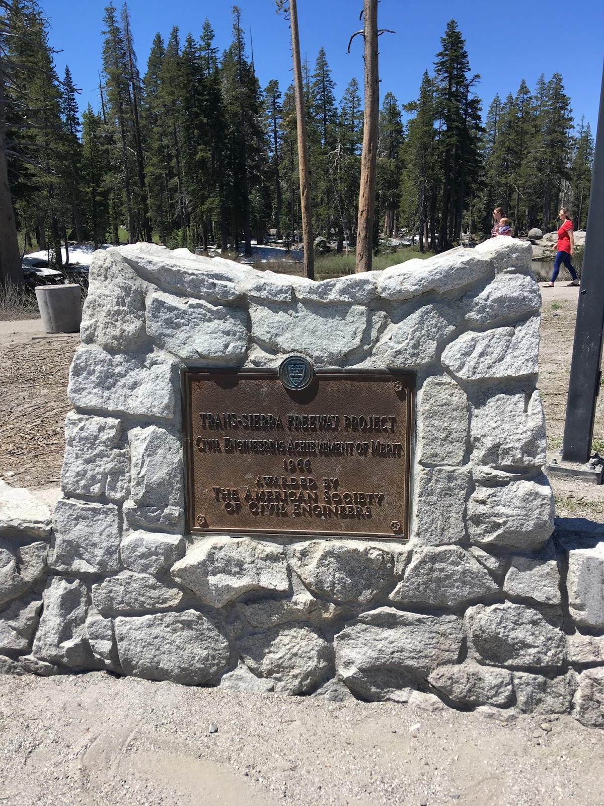 i 80 as a frontage road but i jumped on the interstate to return to ca 89 i stopped at the donner summit rest area to check out some of the memorial