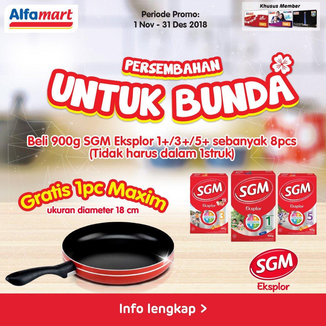 Alfamart - Promo Beli SGM Eksplor 900gr 1+/3+/5+ 8 PCS Gratis 1 PCS Panci Maxim