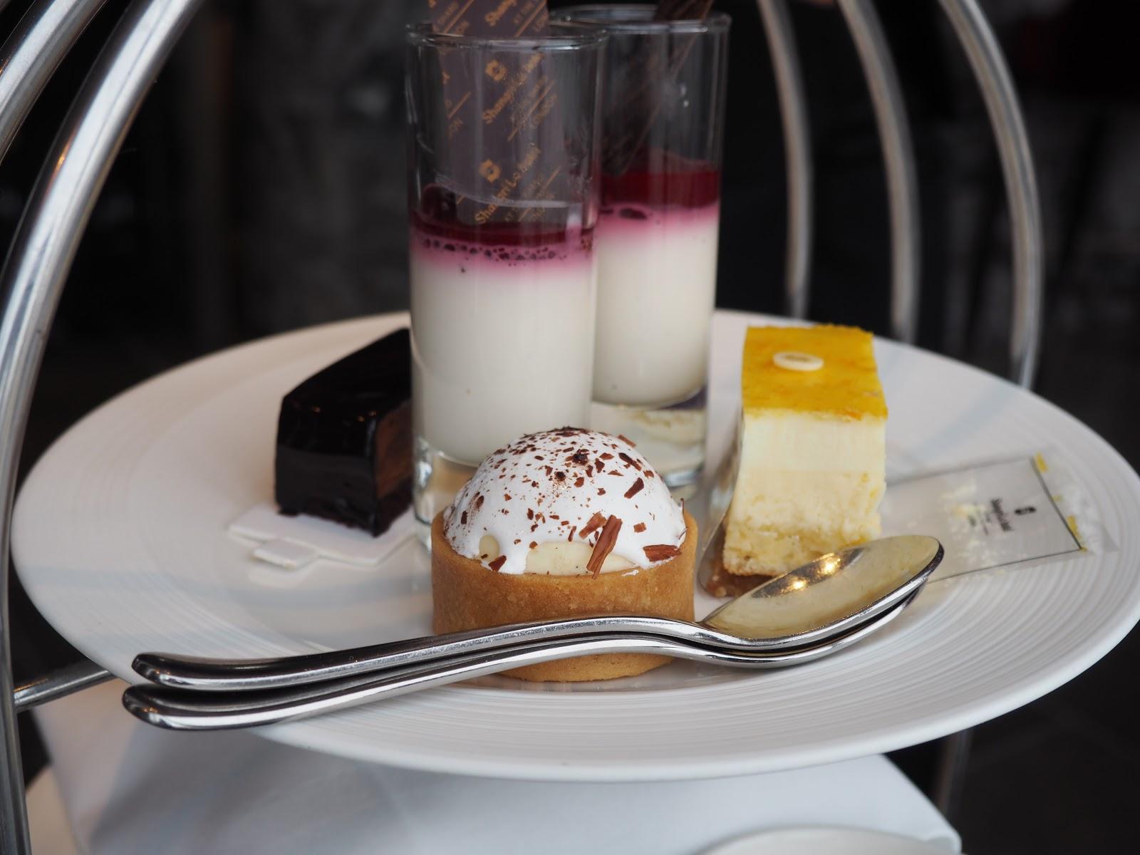cakes from Afternoon Tea at GONG Bar at the Shangri La at The Shard