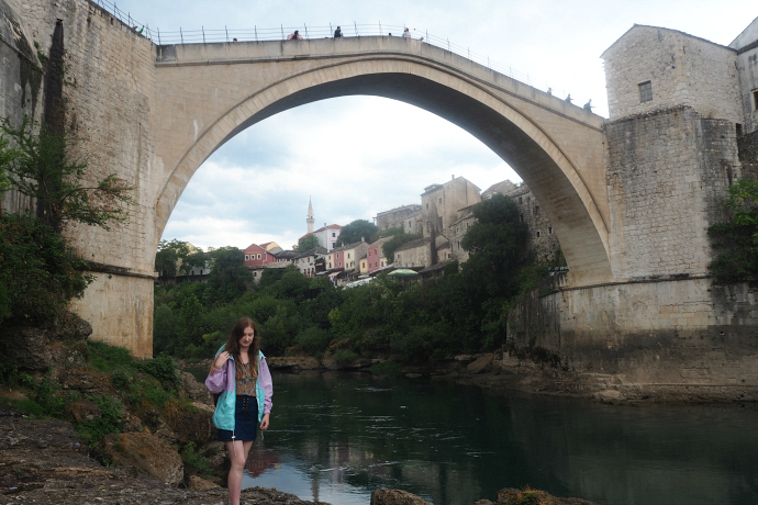 Mostar river front