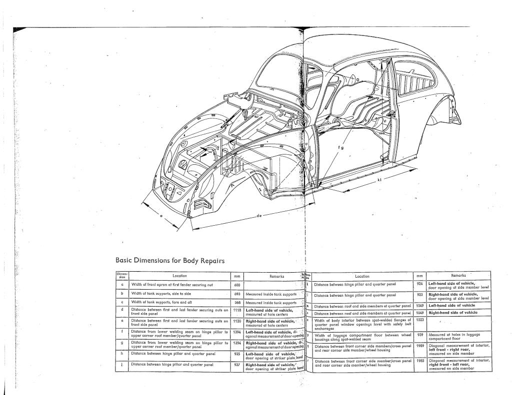 below are the spec sheets for a standard 73 beetle used as reference in replacing the front quarter panel apron front and rear etc from the samba com  [ 1024 x 791 Pixel ]