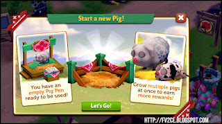 FarmVille 2: Country Escape, mother pig with baby pig, pig pen