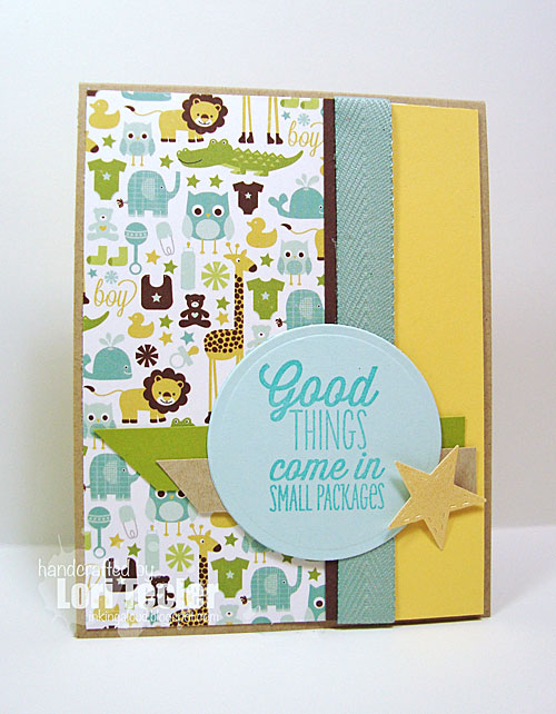 Good Things Come in Small Packages card-designed by Lori Tecler/Inking Aloud-images from Verve Stamps