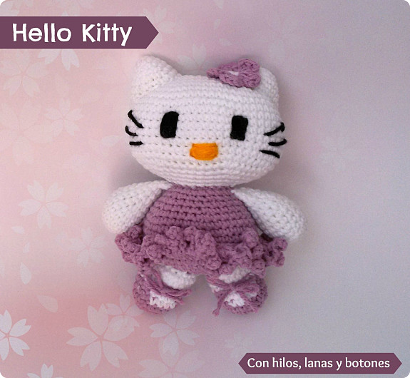 "Con hilos, lanas y botones: Recopilatorio ""Made with Katia 2015"" (segunda parte) - Hello Kitty bailarina"