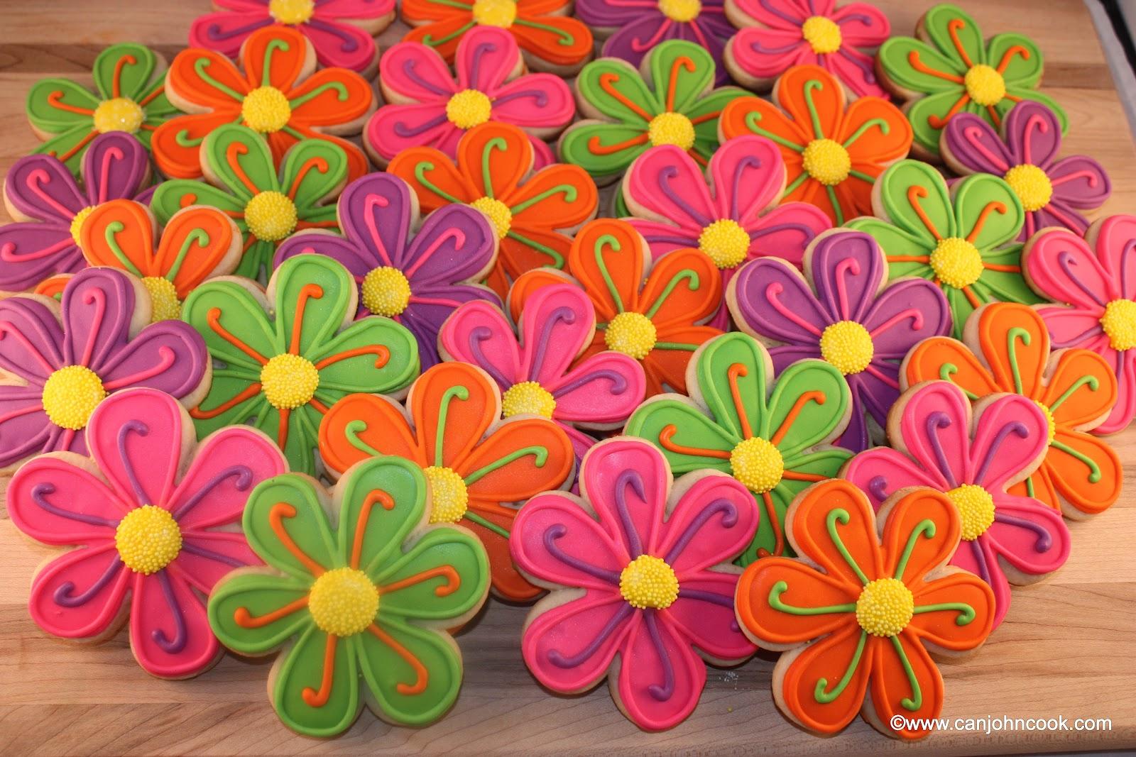 neon flowers sugar cookies can john cook
