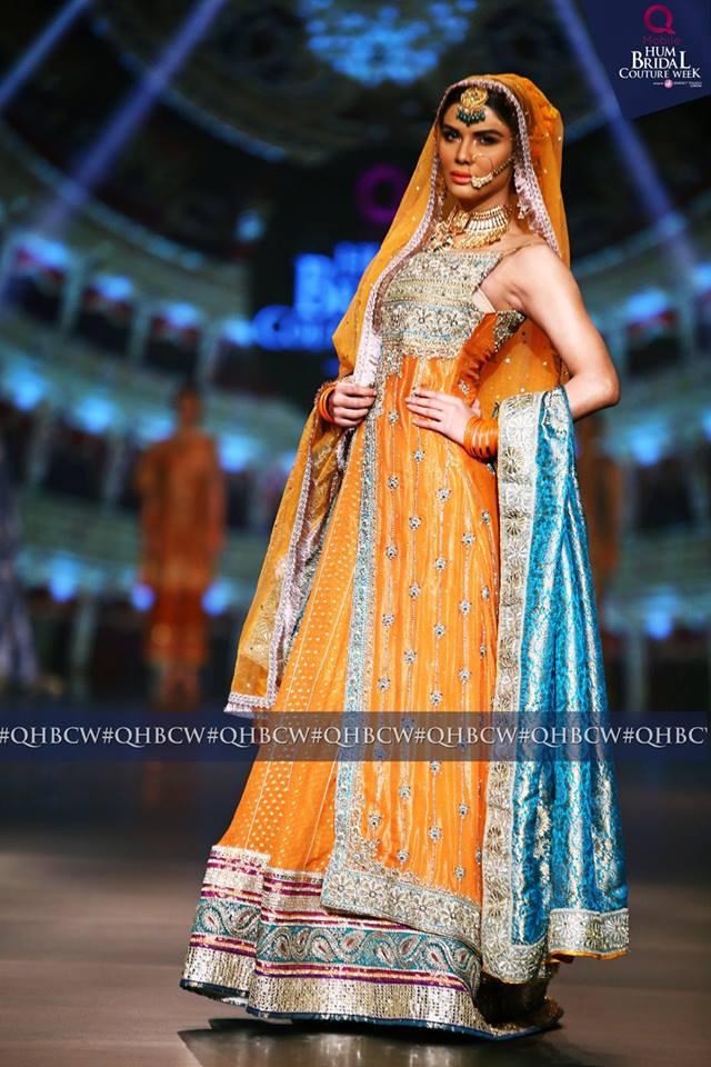 Bridal Couture Week Mehndi Dresses : Mehdi bridal designer dresses collection hum