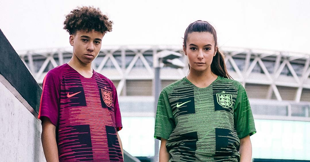 Two Crazy Nike England 'Remix' Pre Match Shirts Released
