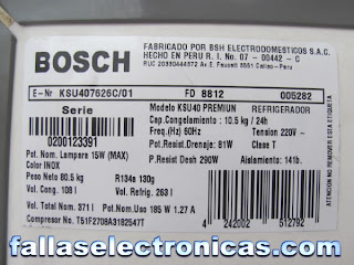 refrigerador bosch electronica