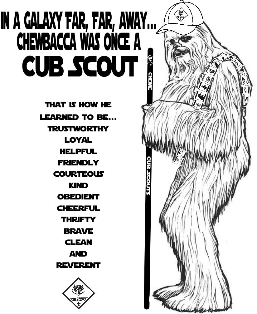 Akela 39 s council cub scout leader training chewbacca was for Cub scout coloring pages