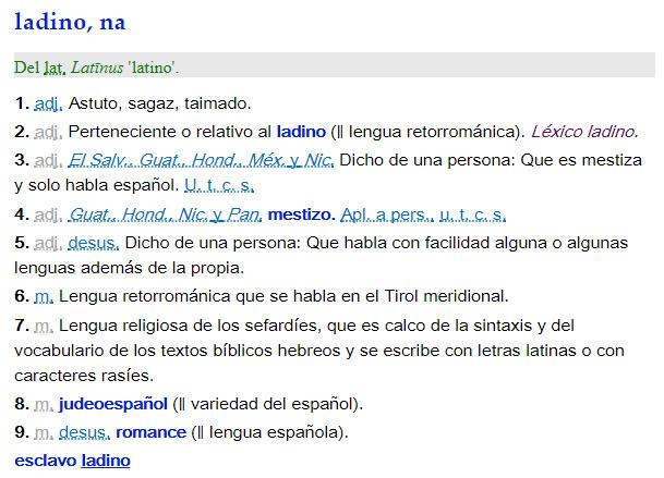 Ladino/a - definición