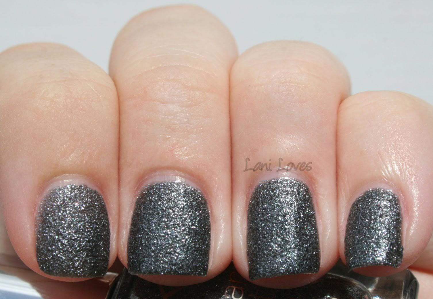 Kiko Sugar Mat Anthracite nail polish swatch & review