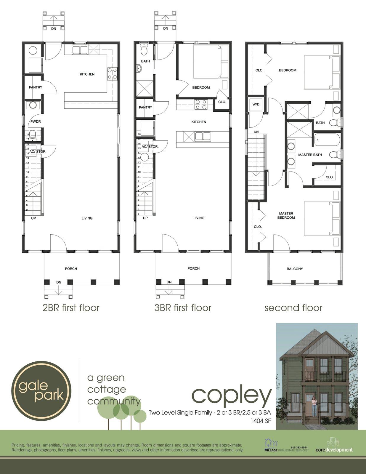 Gale Park Homes Nashville Featured Floor Plan Copley