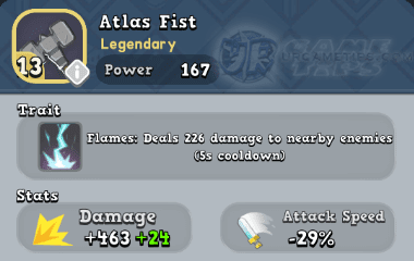 World of Legends Atlas Fist