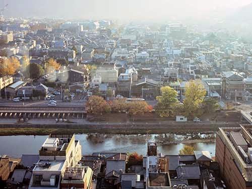 京都ホテルオークラオリゾンテから見た鴨川