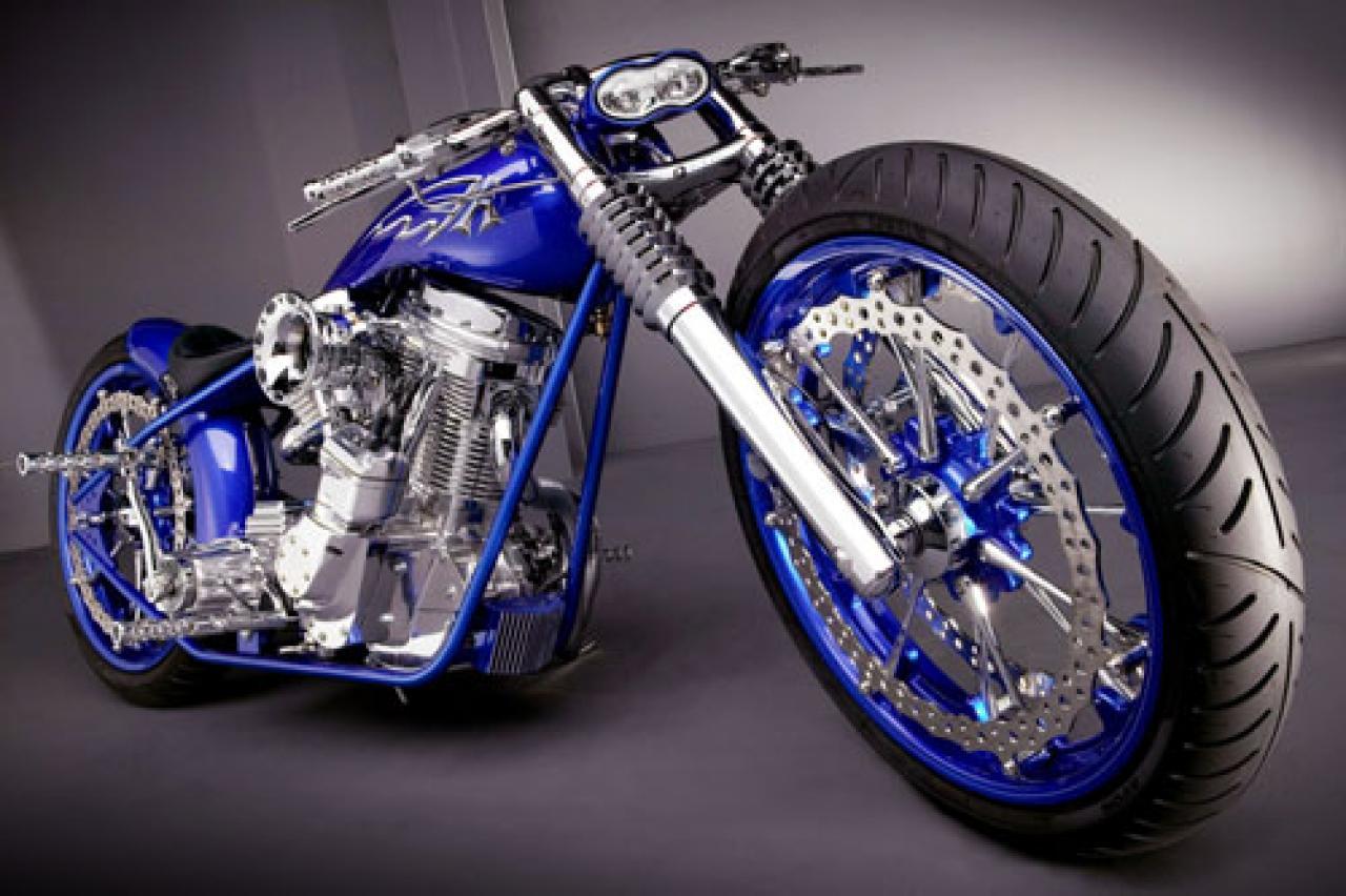 Blue Modified Bike Hd Wallpaper: Gambar Gambar Motor Harley Davidson