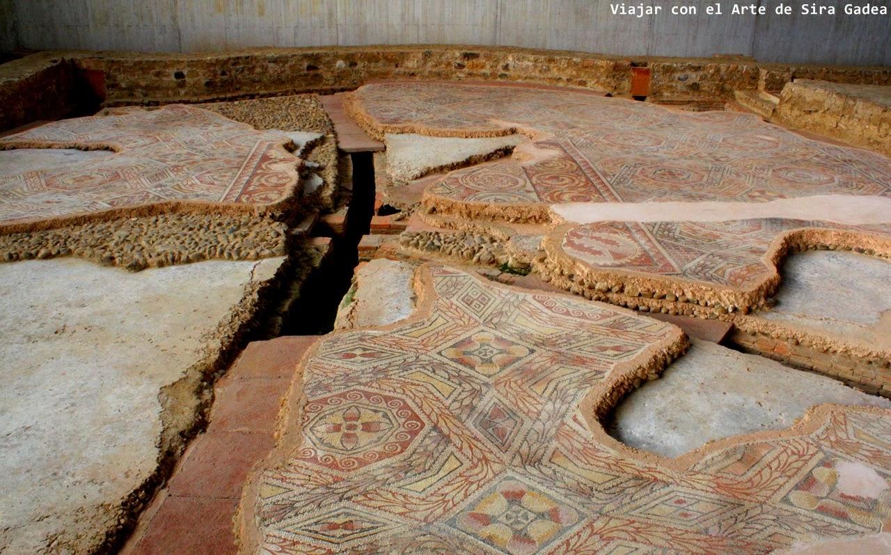 baños termas La Olmeda mosaico