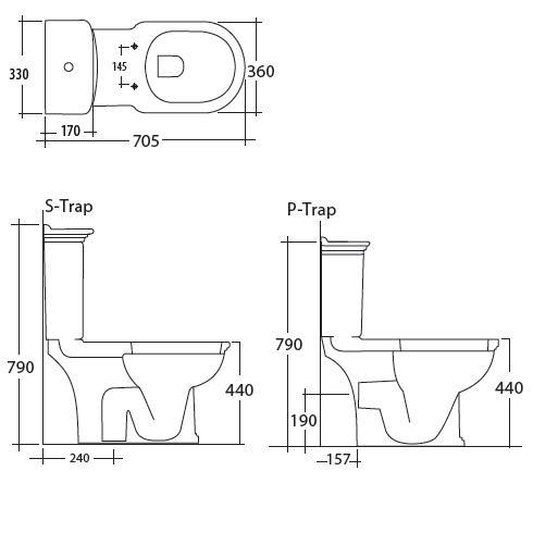 Modecor Toilet Suites: RAK Washington Close Coupled Toilet