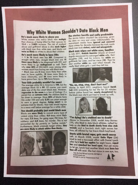 racist flyer us campuses