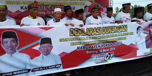 Ribuan Warga Rokan Hulu Deklarasi Dukung Jokowi-Ma'ruf