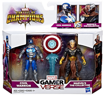 Hasbro Marvel Contest of Champions Gamerverse Action Figures Civil Warrior vs The Collector