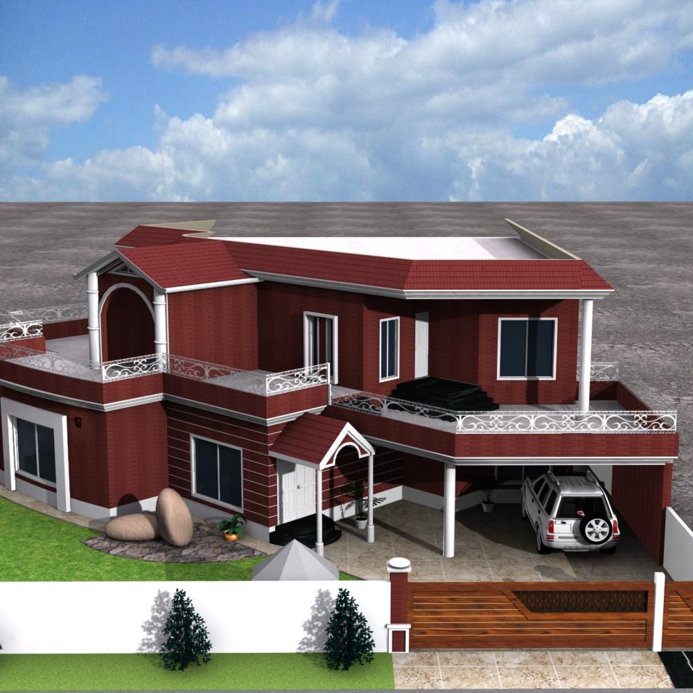 3D Front Elevation.com: european house plans one story