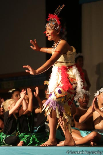 Miracle Laga'aia performing with Flaxmere Primary - Pasifika Festival at Flaxmere Primary School, Flaxmere, Hastings. photograph