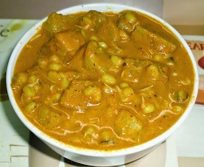 Muga mole randayi in a serving bowl