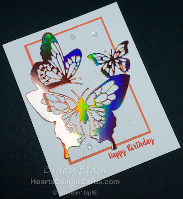 Heart's Delight Cards, Piece of Cake, Butterfly Beauty Thinlits, Birthday Card, Lace Dynamic TIEF, Butterflies, Stampin' Up!, Occasions 2019,