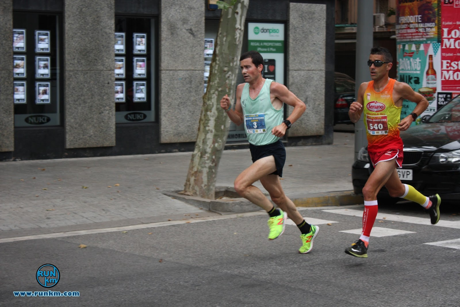Juan Manuel Alvarez y Nacho Cáceres en Cursa Besòs-Maresme