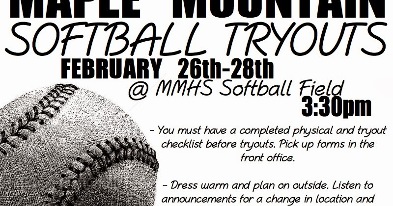 Maple Mountain Softball: Tryouts in 16 DAYS!!