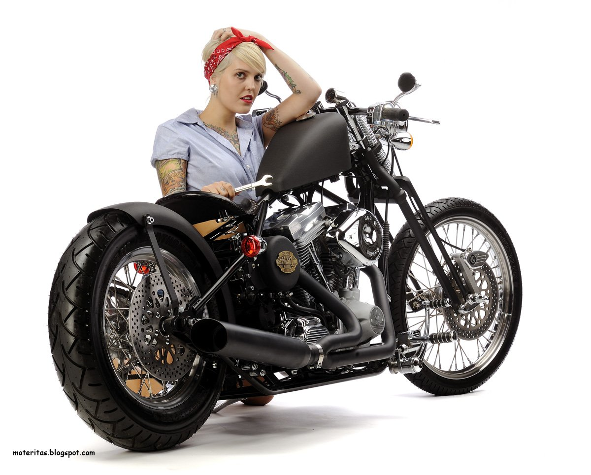 Motos Y Mujeres Resolucin Hd Mujeres En Motos Bobbers-7112