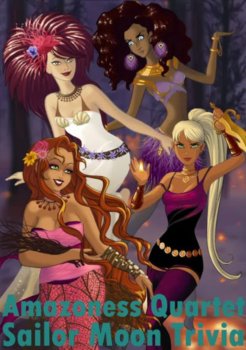 amazoness quartet, sailor quartet, asteroid senshi, sailor moon, anime, manga, naoko takeuchi