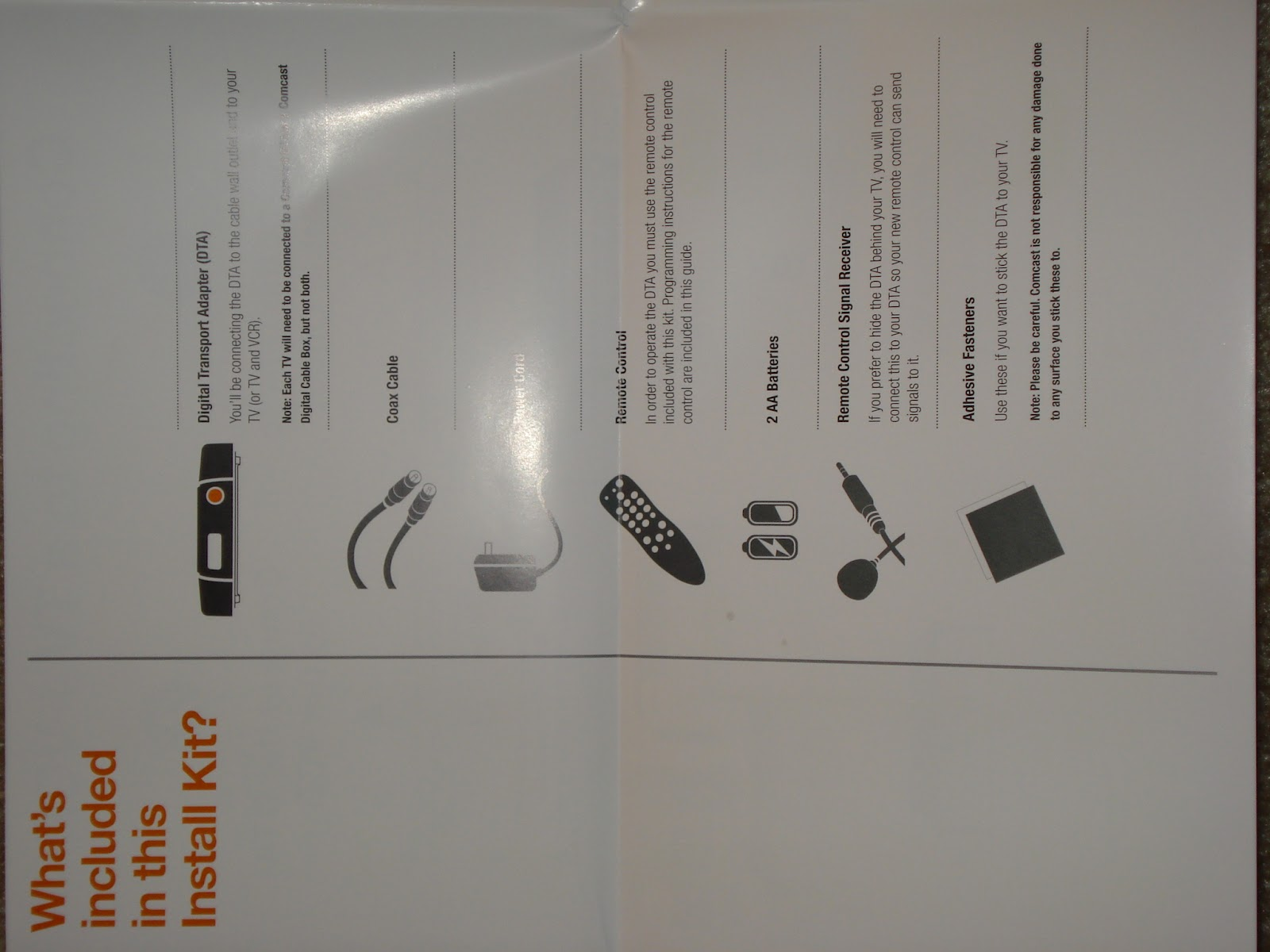Tryst With Technology Comcast Dta Self Install Kit