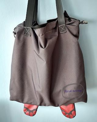 Adzik tworzy - materiałowa torebka DIY z podszewką i zamkiem