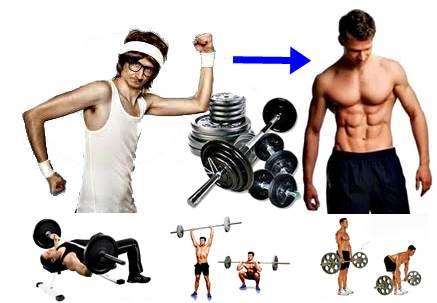 Ejercicios que vuelven musculosos a los hombres flacos