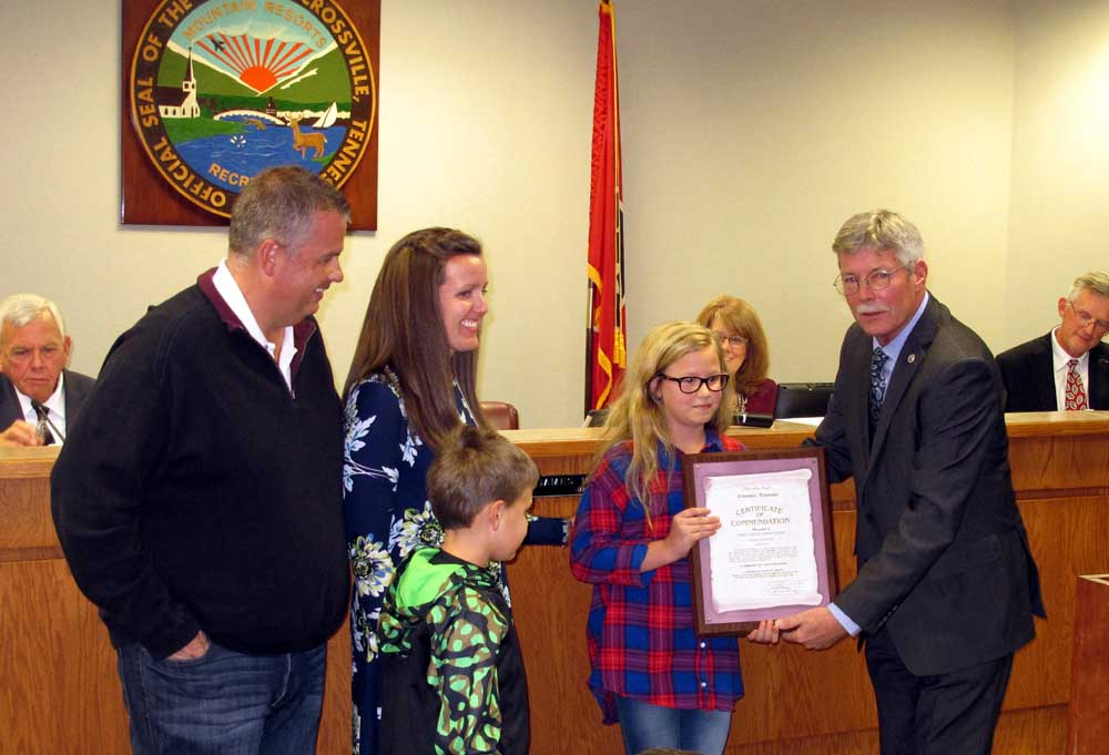 Jim young reporter emma christopher recognized as january for Park place motors crossville tn