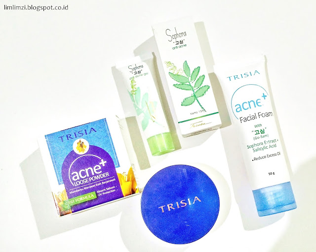 [REVIEW] Trisia Cosmetic Anti Acne Series (Facial Foam, Acne Gel, Loose Powder)
