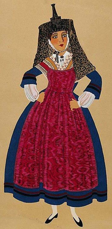 FolkCostume&Embroidery: Costume of Bresse, France