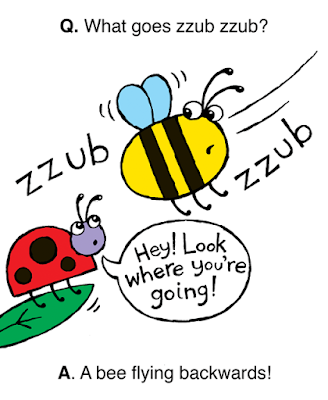 bee flying backwards going zzub zzub