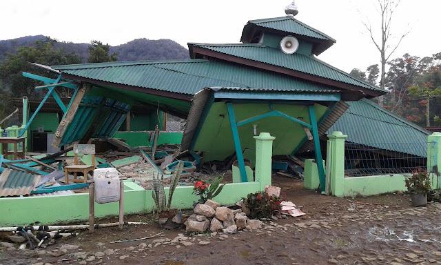 Beberapa kerusakan terjadi pasca gempa di Lebak, Banten (istimewa)