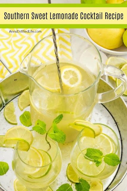 Southern sweet lemonade cocktail recipe