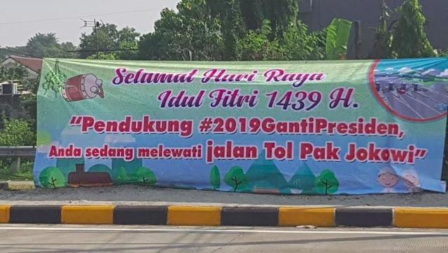 Makin Heboh Spanduk 'Jalan Tol Jokowi' Gerindra 'Kelojotan'