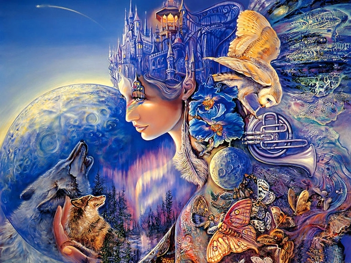 Josephine Wall 1947 | British Mystical Fantasy painter